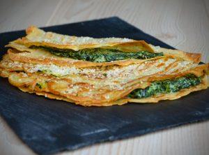 Zevenbladpannenkoekjes met blauwe kaas